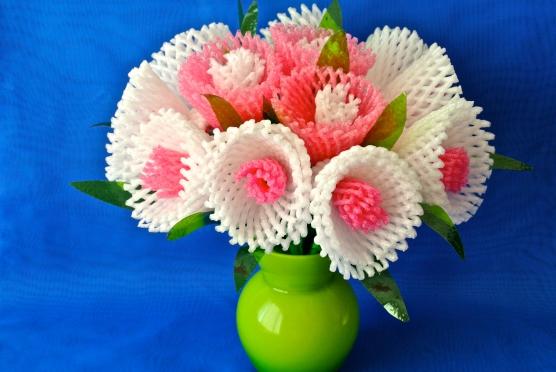 Цветы из бросового материала своими руками для детей